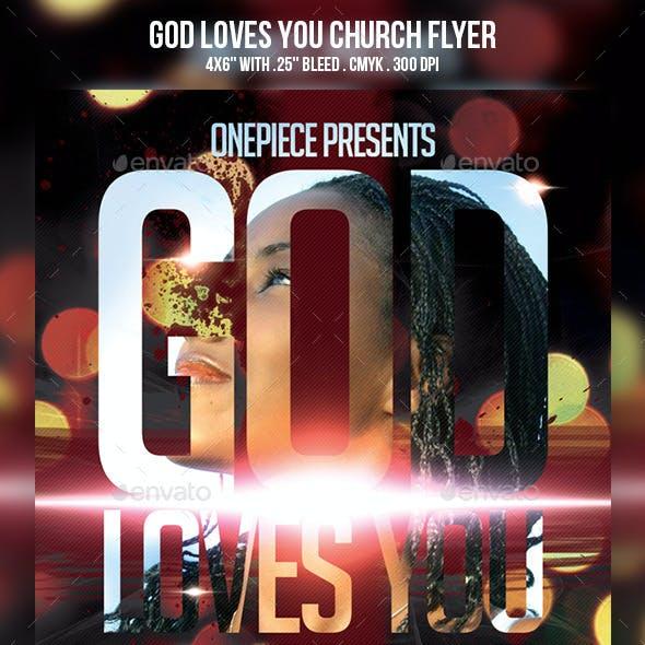 God Loves You Church Flyer