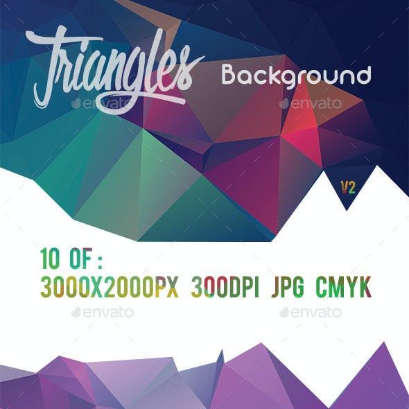 10 Triangles Background V2