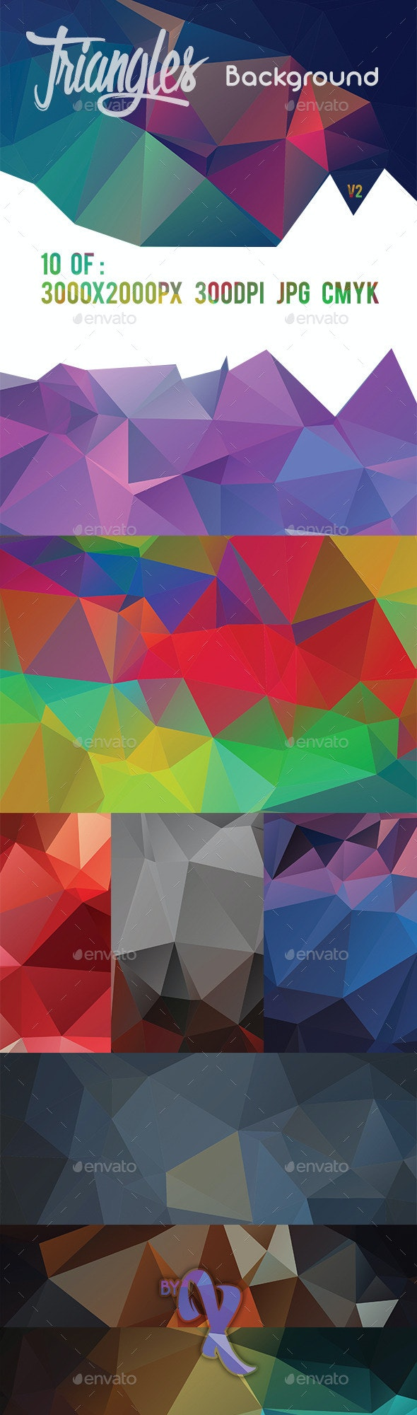10 Triangles Background V2 - Abstract Backgrounds