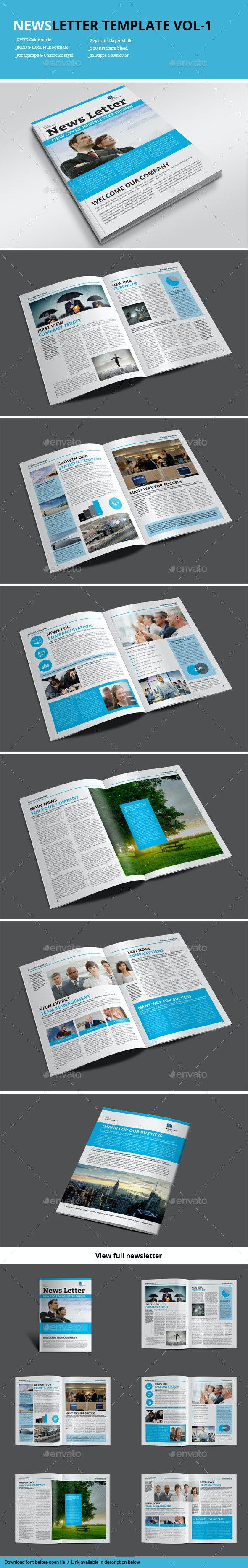 Newsletter Template Vol-1 - Newsletters Print Templates