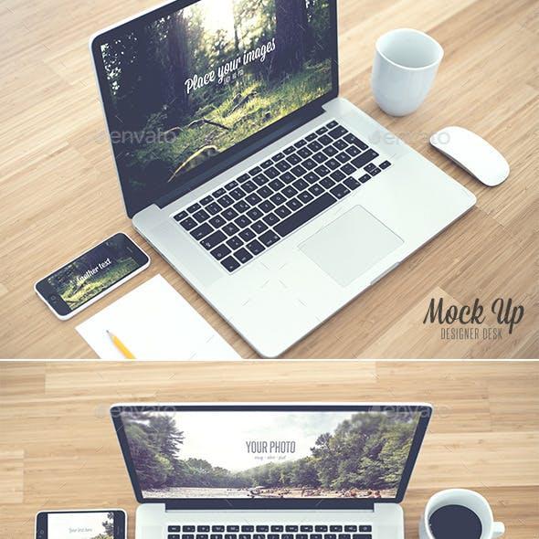 Desk - Realistic Mock Up