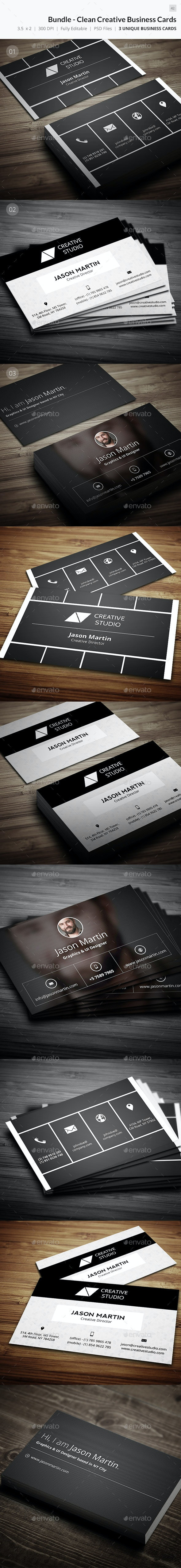 Bundle - Clean Creative Business Card - 42 - Creative Business Cards