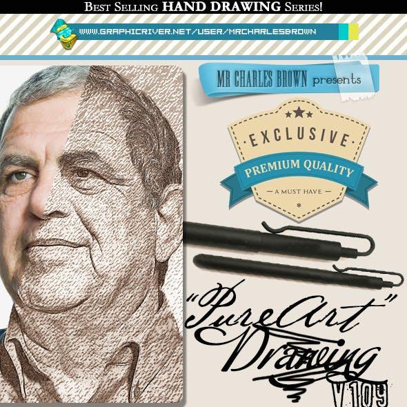 Pure Art Hand Drawing 109 – Acrylic Fluid Art 14