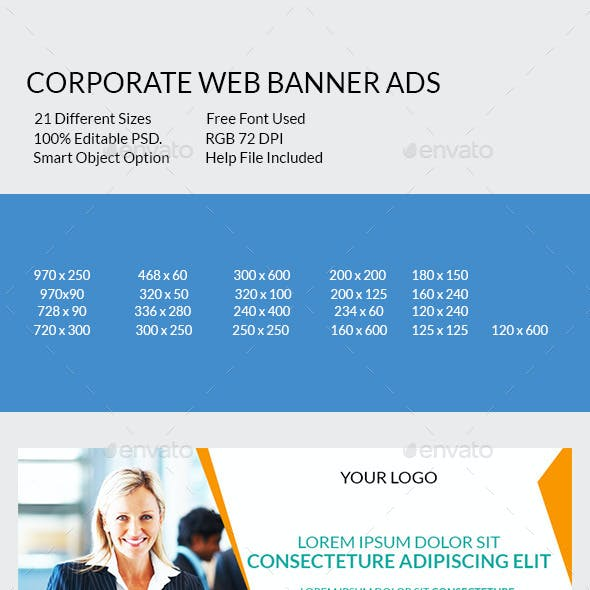 Corporate Web Banner Ads
