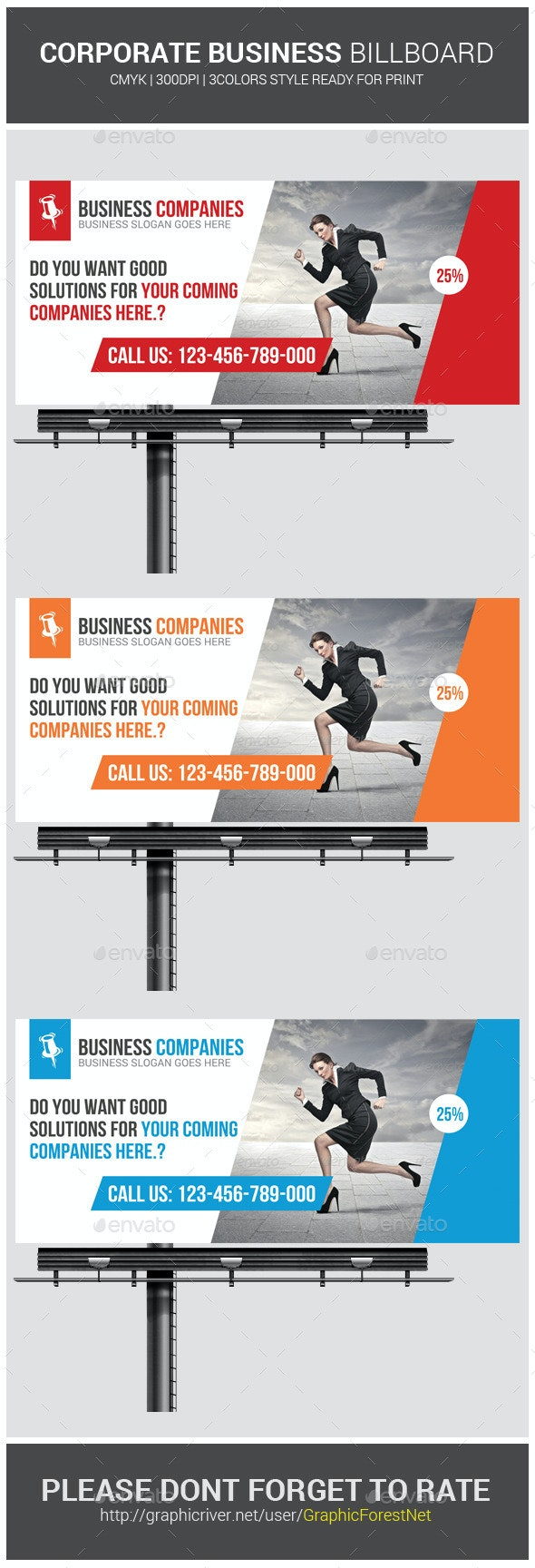 Corporate Business Billboard Banner Psd Template - Signage Print Templates