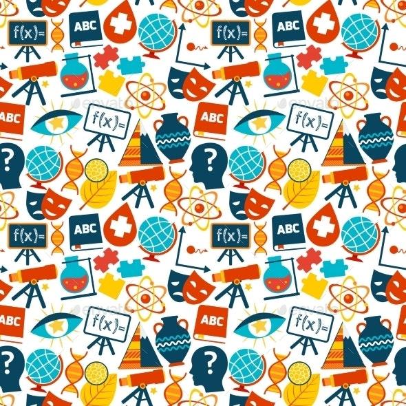 Education Seamless Pattern - Backgrounds Decorative
