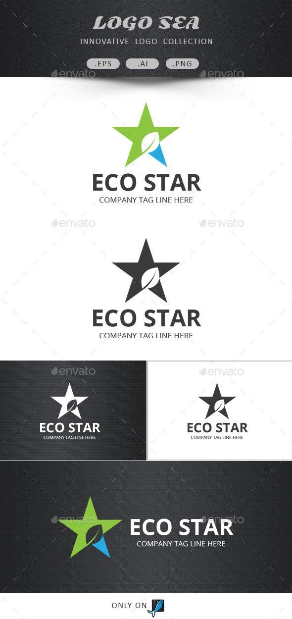 Eco Star Vector Logo - Abstract Logo Templates