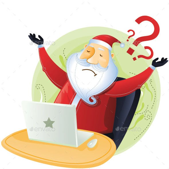 Santa has No Idea with Computer