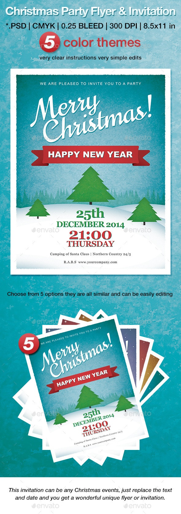 Christmas Party Flyer & Invitation - Print Templates