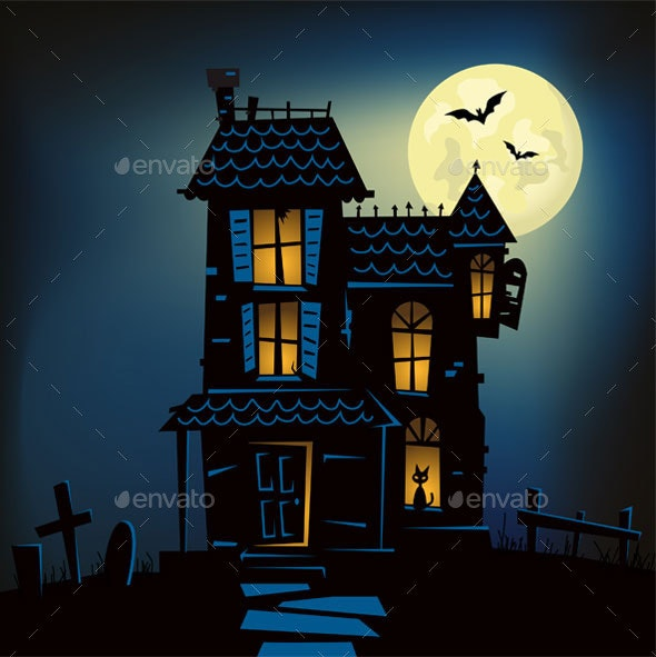 Haunted House - Halloween Seasons/Holidays
