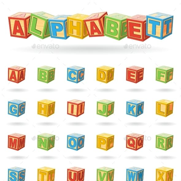 Alphabet On Baby Cubes