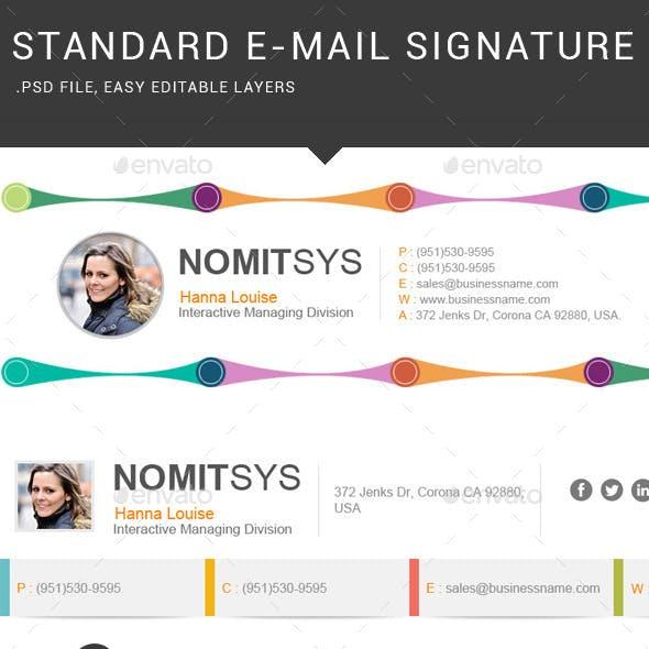 Standard E-Mail Signature