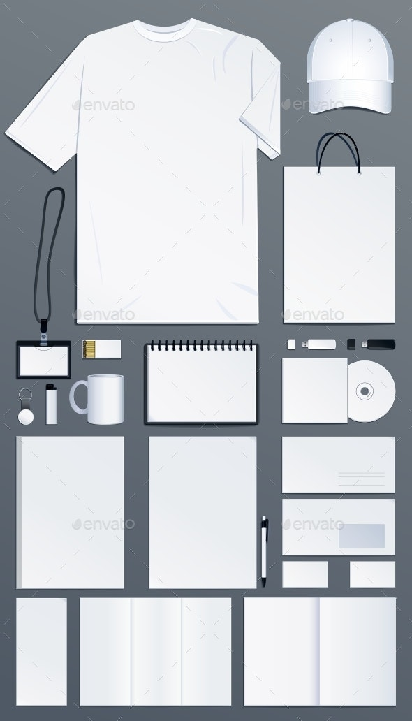 Corporate Identity Samples - Objects Vectors