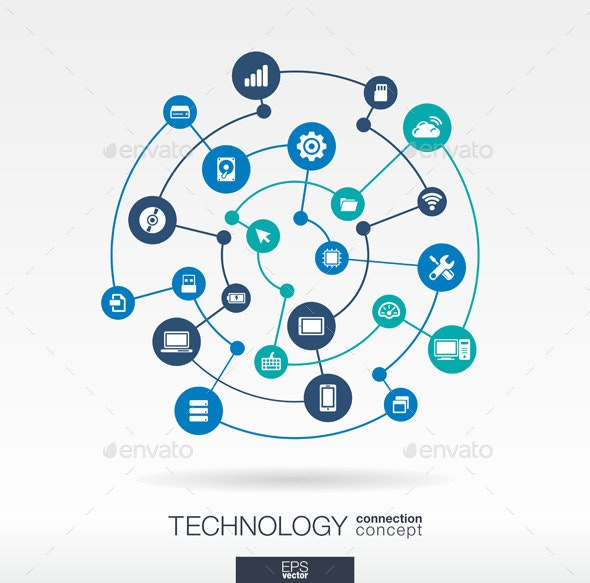 Technology Connection Concept - Technology Conceptual