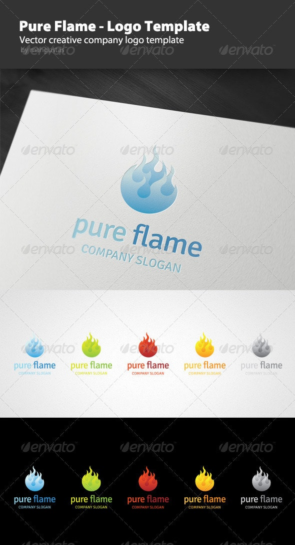 Pure Flame - Logo Template - Vector Abstract