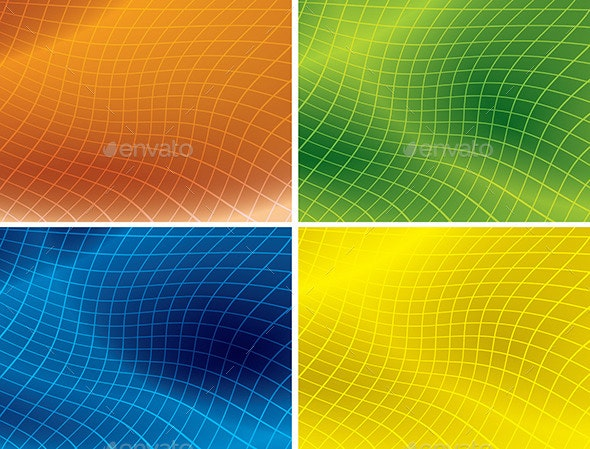 Bright Color Backgrounds with Distorted Grid - Backgrounds Decorative