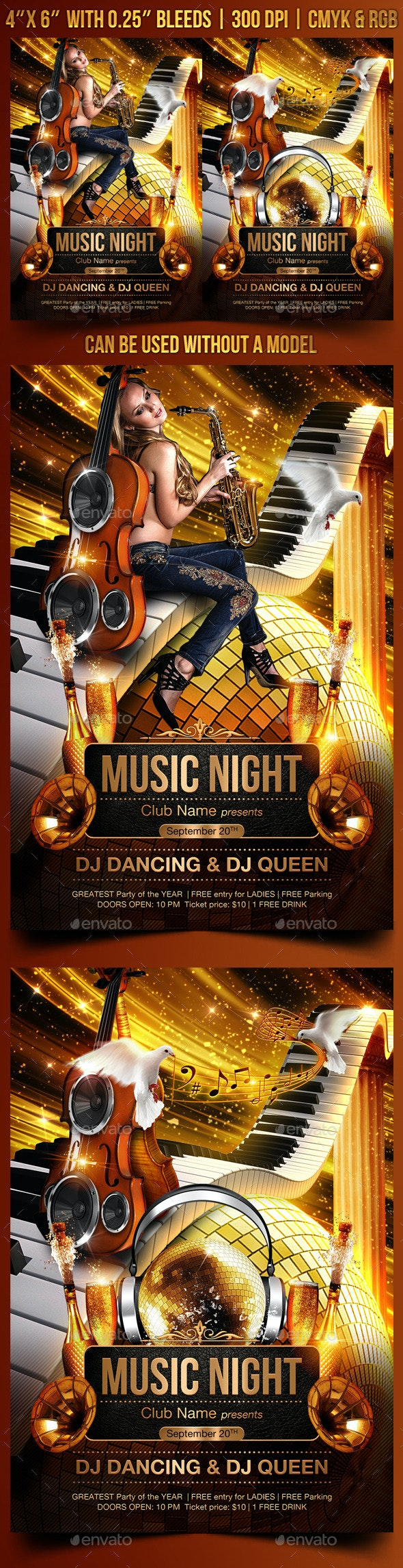 Music Night Flyer Template - Clubs & Parties Events
