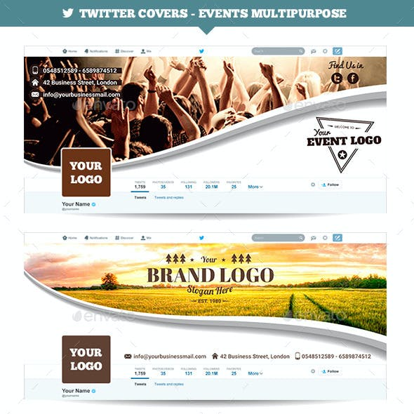Twitter Covers - Events Multipurpose