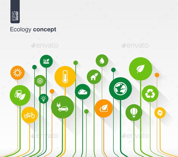 Abstract Ecology Background - Conceptual Vectors
