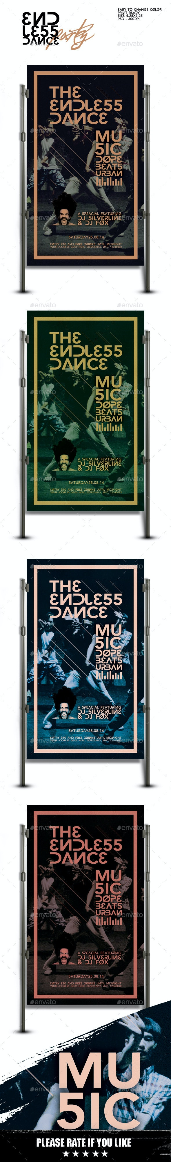 Endless Dance Party Flyer Template - Clubs & Parties Events