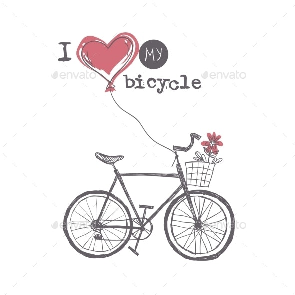 I Love My Bicycle - Decorative Symbols Decorative