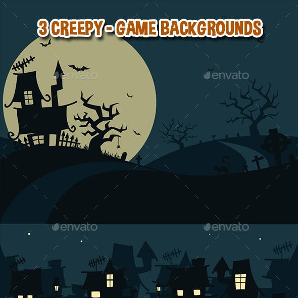 3 Creepy - Game Backgrounds
