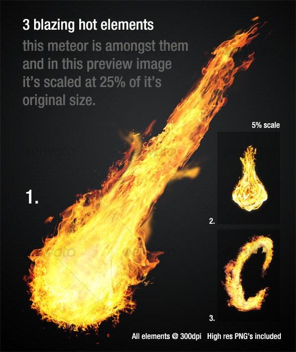 Blazing Hot Fire Elements_vol1 - Decorative Graphics