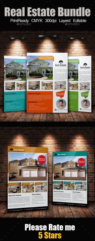 A4 Real Estate Flyers Bundle - Corporate Flyers