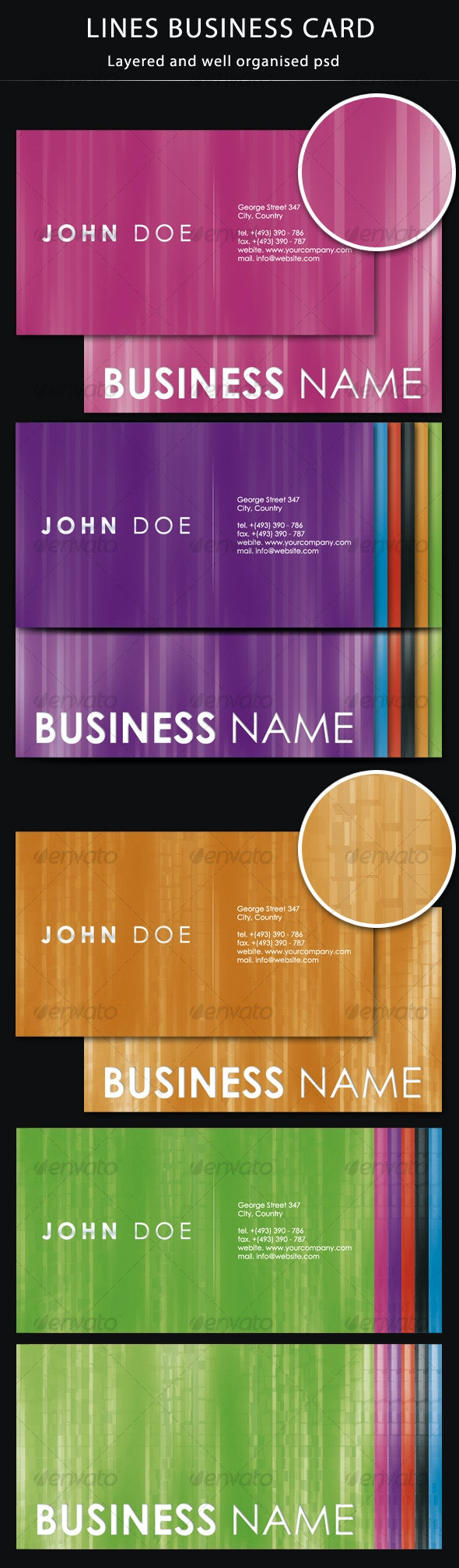 Lines Business Card - Creative Business Cards