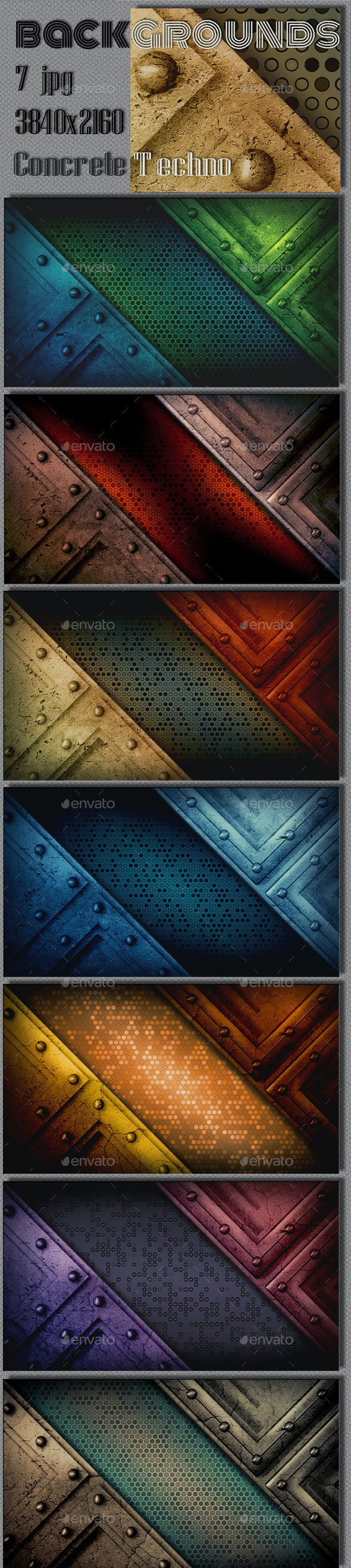 Concrete Techno Wall Background - Urban Backgrounds