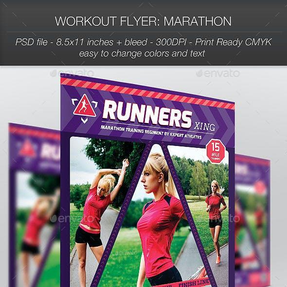 Workout Flyer: Marathon