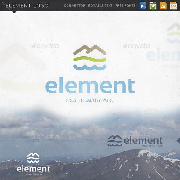 Element Nature Environment Logo Template