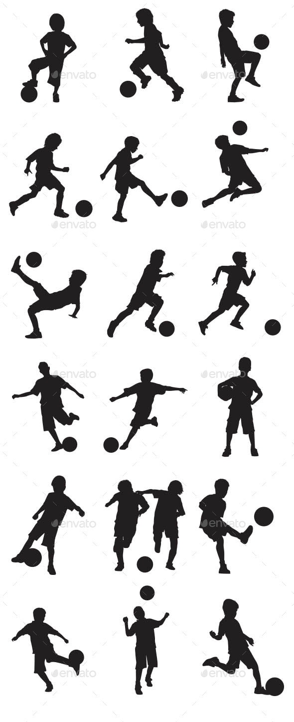 Kids Playing Soccer - Sports/Activity Conceptual