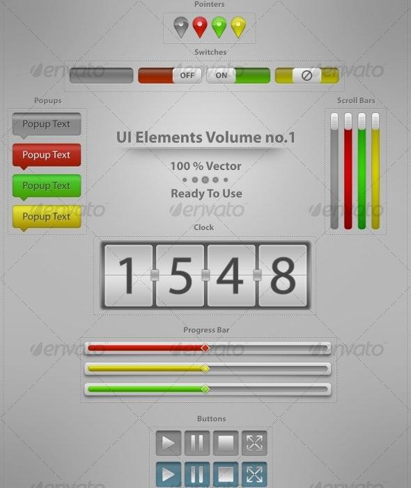UI Elements Vol.1  - Buttons Web Elements