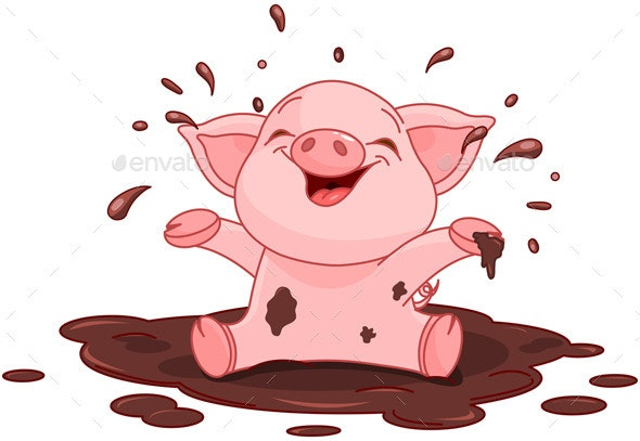 Piggy in a Puddle - Animals Characters