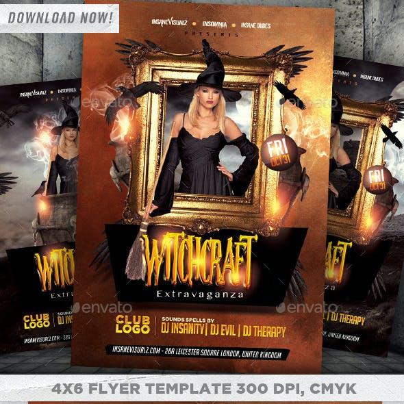 Witchcraft Extravaganza Halloween Flyer