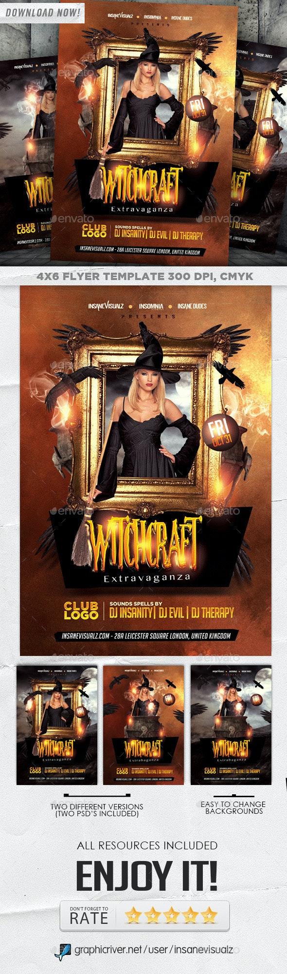 Witchcraft Extravaganza Halloween Flyer - Holidays Events