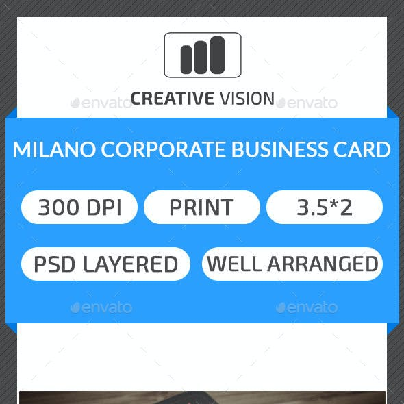 Milano & Corporate Business Card