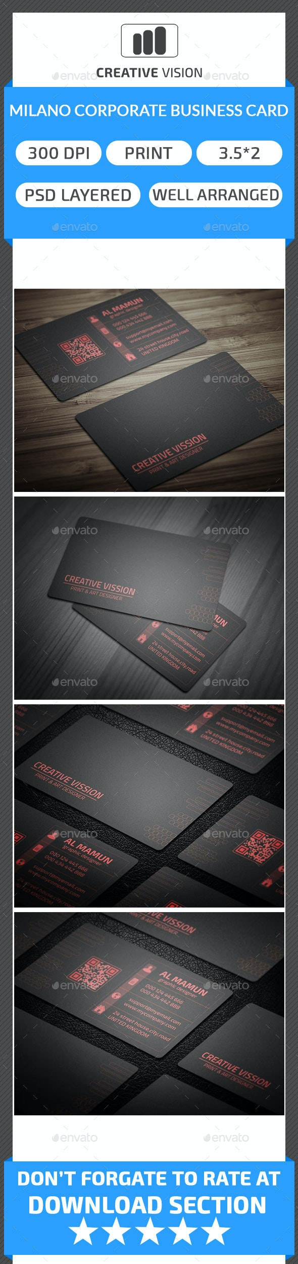 Milano & Corporate Business Card - Corporate Business Cards