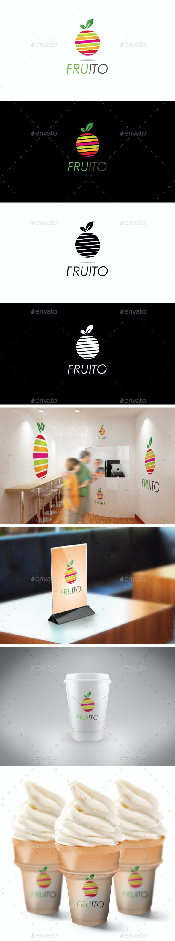 Fruito - Food Logo Templates