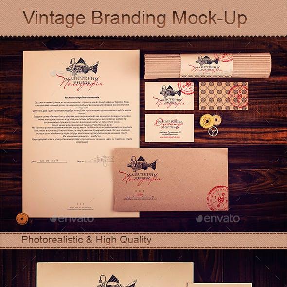 Vintage Branding Mock-Up