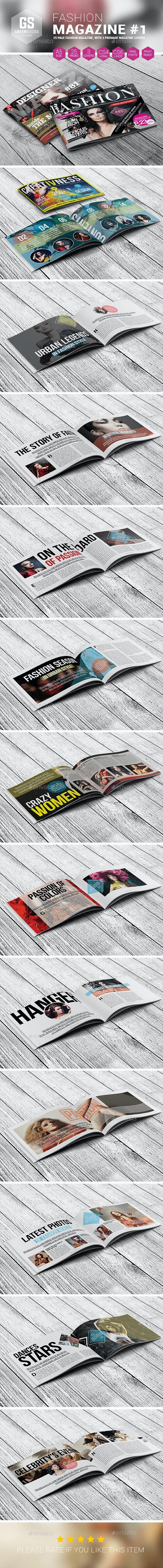 Landscape Fashion Magazine #1 - Magazines Print Templates