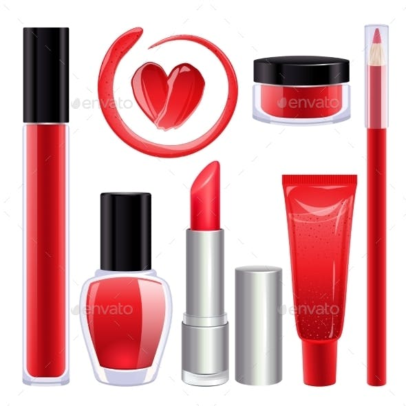 Make-up Set for Lips and Nails