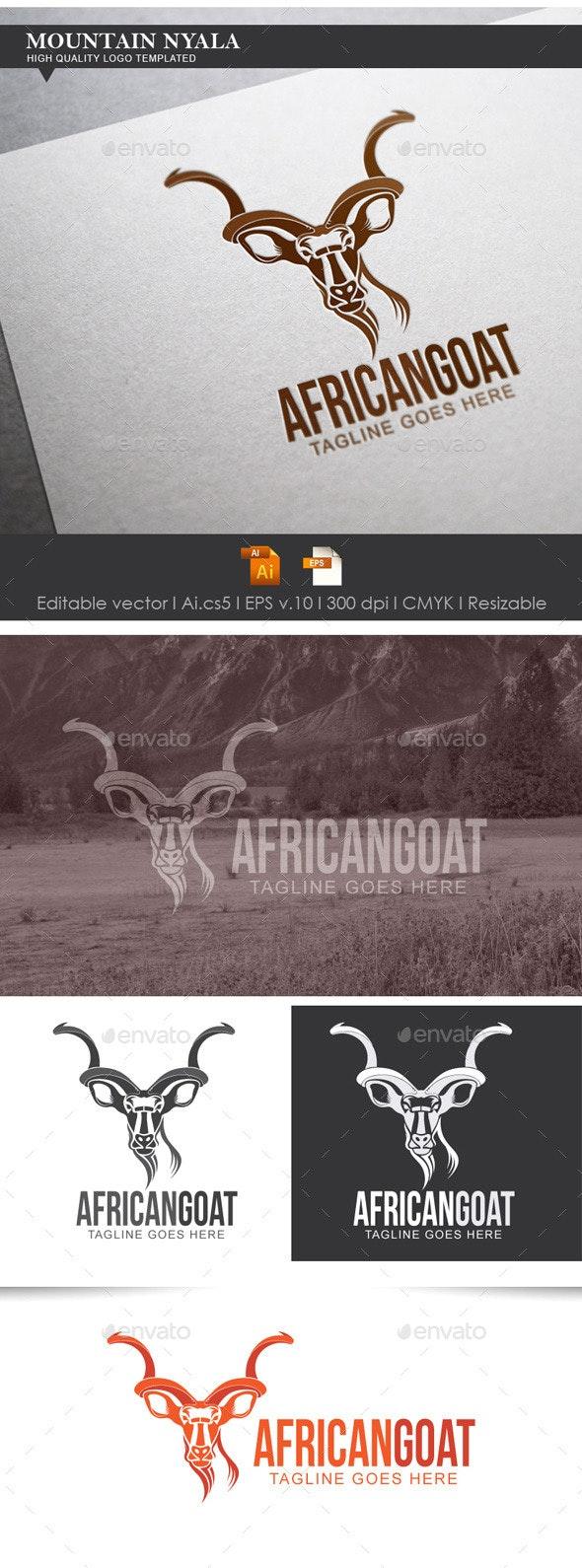 African Goat Logo Templated - Animals Logo Templates
