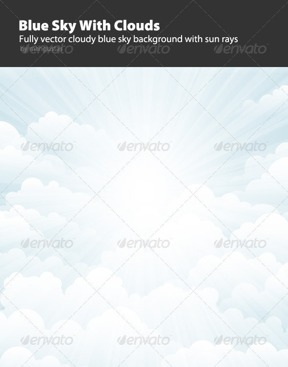 Blue Sky With Clouds - Backgrounds Decorative