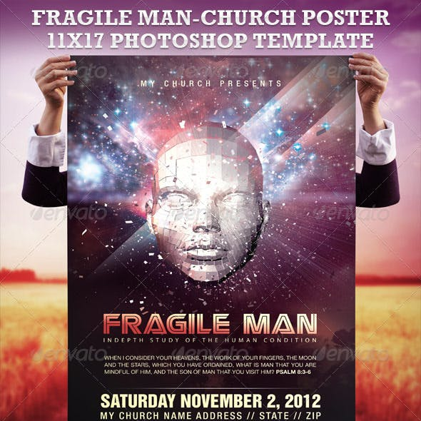Fragile Man 11x17 Poster Template