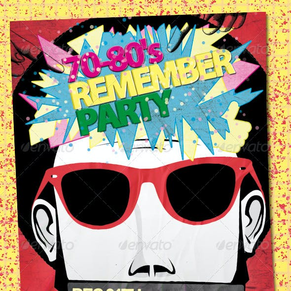 70-80's Remember Party Flyer