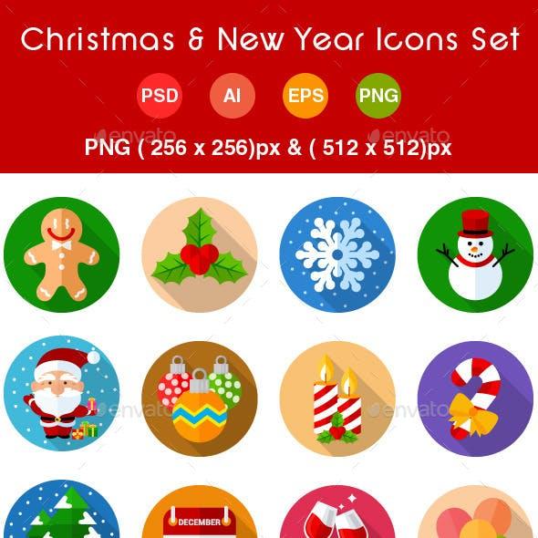 Christmas & New Year Icons Set