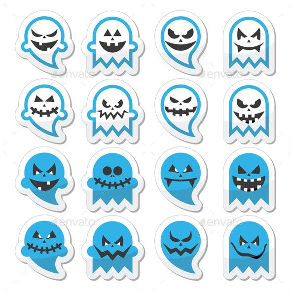 Halloween Scary Ghost Set