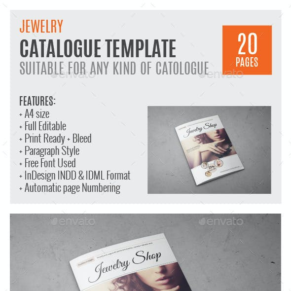 Jewelry A4 InDesign Catalog Template HP0011